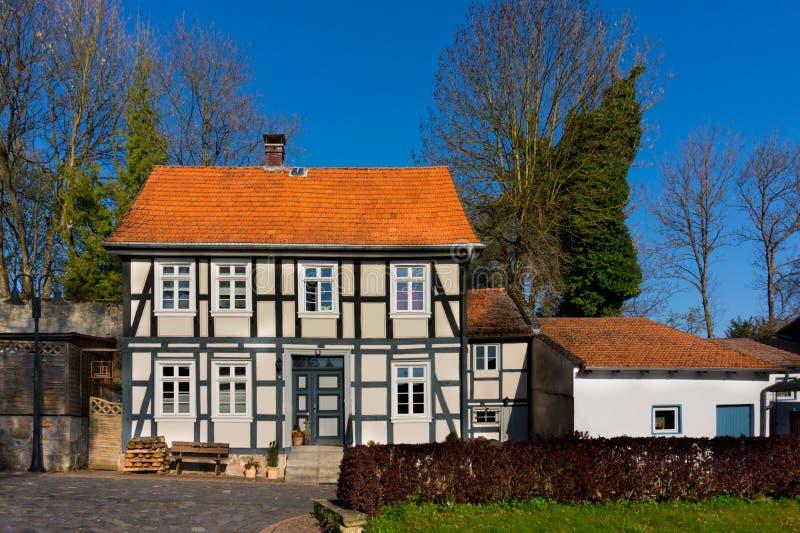 Huis in oude Duitse stijl royalty-vrije stock foto