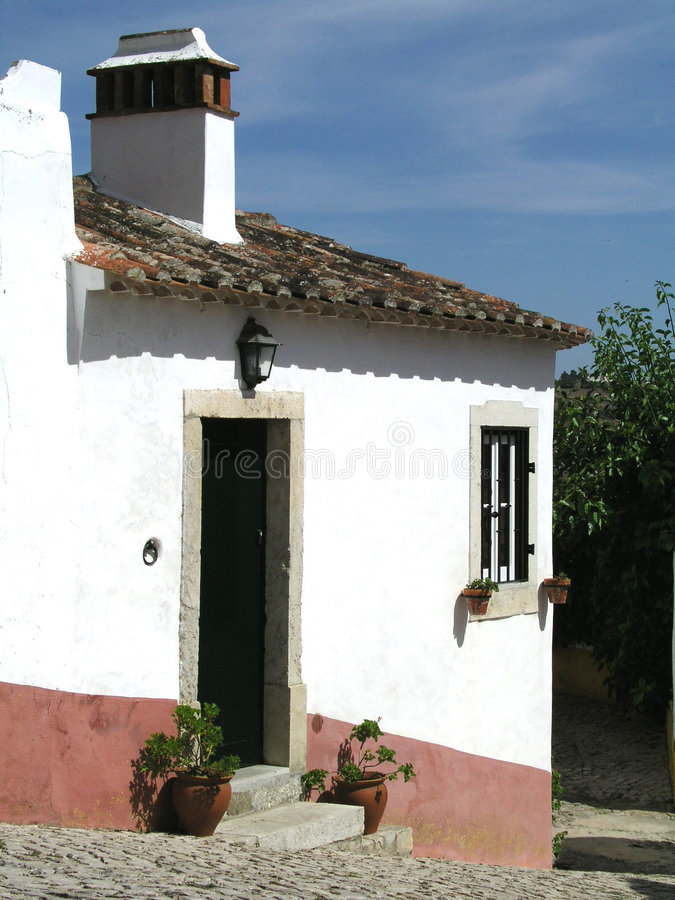 Huis in Portugal stock foto