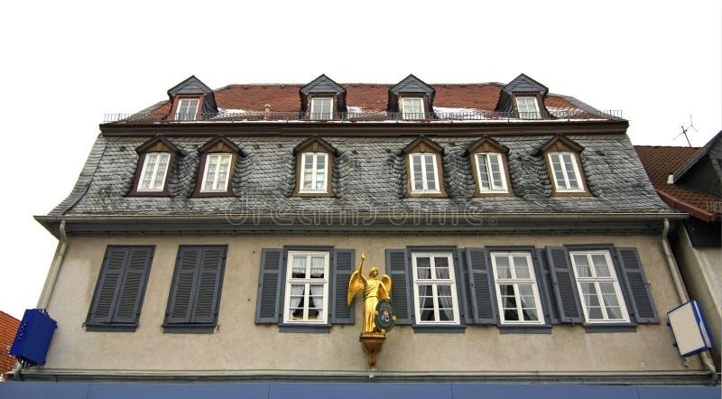 Huis in Slechte Vilbel duitsland royalty-vrije stock afbeelding