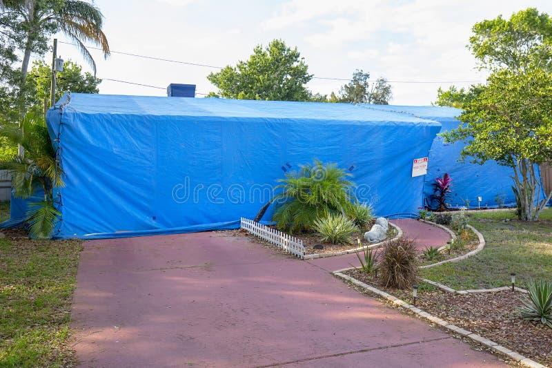 Huis Tenting/Structurele Beroking royalty-vrije stock fotografie