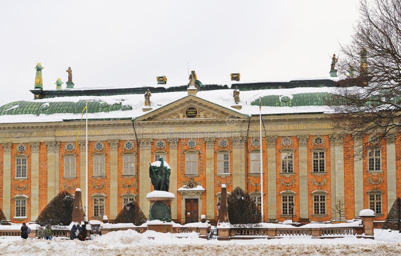Huis van Adel in de winter Stockholm stock foto