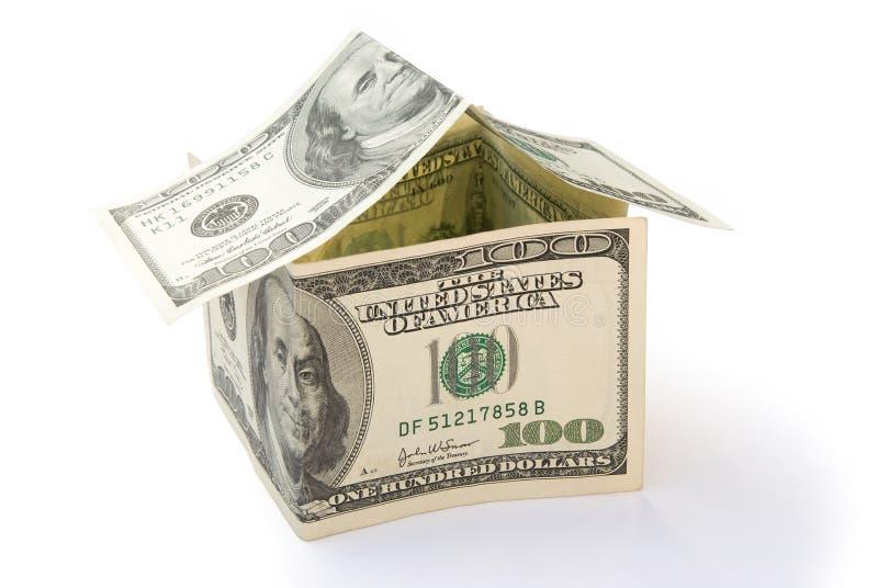 Huis van Amerikaanse dollars wordt gemaakt die stock foto's