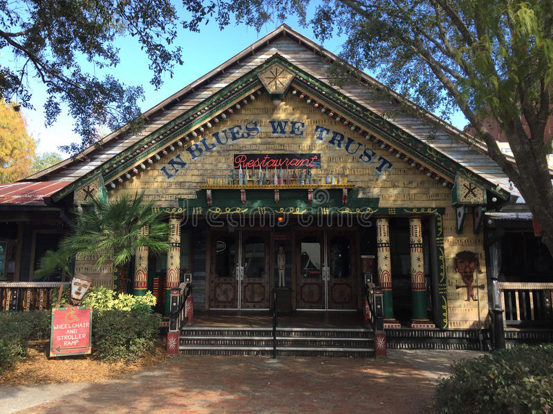 Huis van Blauwrestaurant, Disney-de Lentes, Orlando stock afbeeldingen