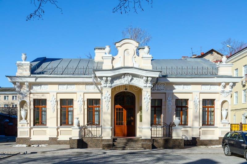 Huis van burgerlijke ceremonies op Straat Iryninskaja, Gomel, Wit-Rusland stock afbeeldingen