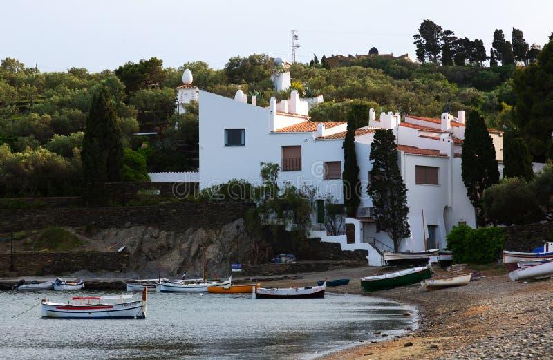 Huis van Dali in Cadaques stock afbeelding