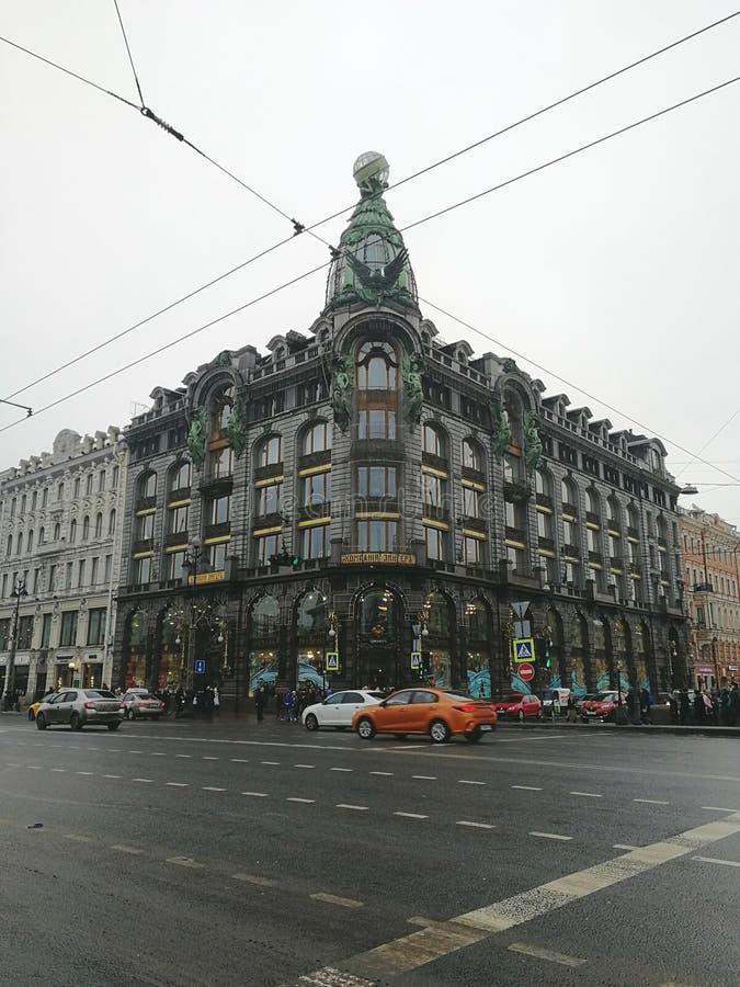 Huis van de bedrijfzanger in St. Petersburg stock fotografie