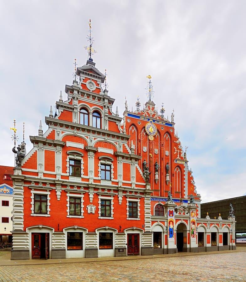 Huis van de Meeëters, Riga royalty-vrije stock afbeeldingen