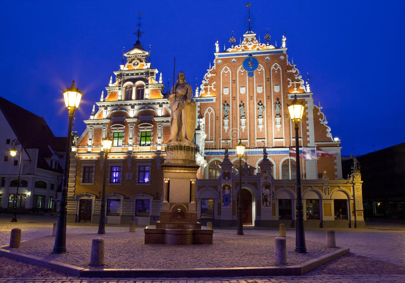 Huis van de Meeëters in Riga royalty-vrije stock foto