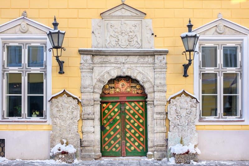 Huis van de Meeëters Tallinn, Estland royalty-vrije stock foto's