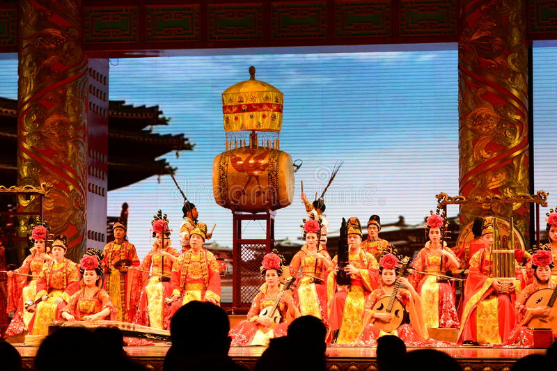 Huis van de Shaanxi het Grote Opera Xi'an China stock afbeeldingen