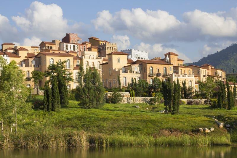 Huis van de stijl van Toscanië royalty-vrije stock foto