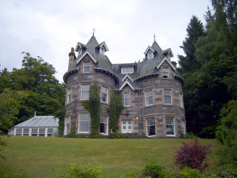 Huis van de Turreted het Schotse Gast royalty-vrije stock foto