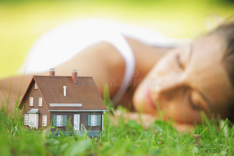 Huis van dromen stock fotografie