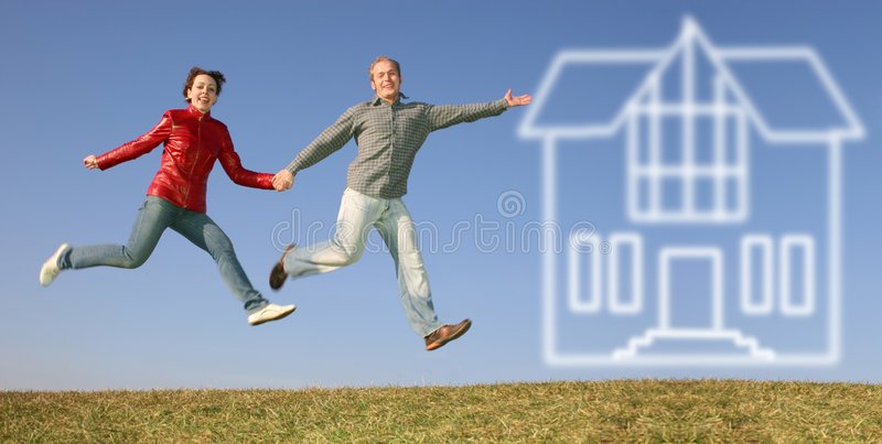 Huis van droom royalty-vrije stock foto