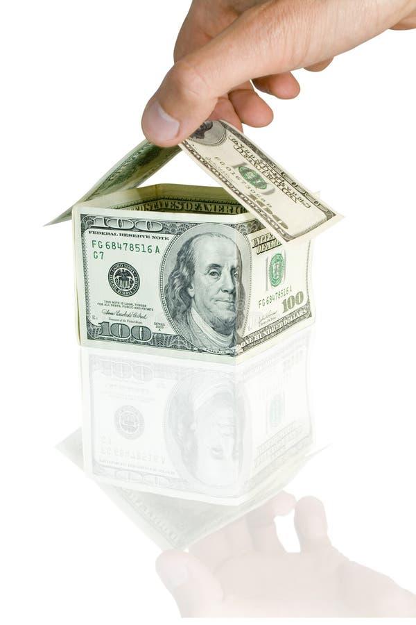 Huis van een geld royalty-vrije stock afbeelding