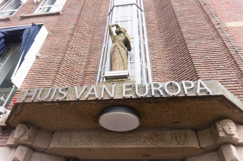 Huis van Europa in Den Haag stock fotografie