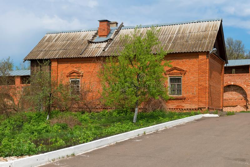 Huis van geestelijkheid in het zaraysky Kremlin royalty-vrije stock foto