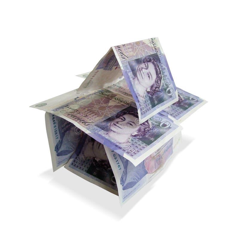 Huis van geld royalty-vrije stock afbeelding