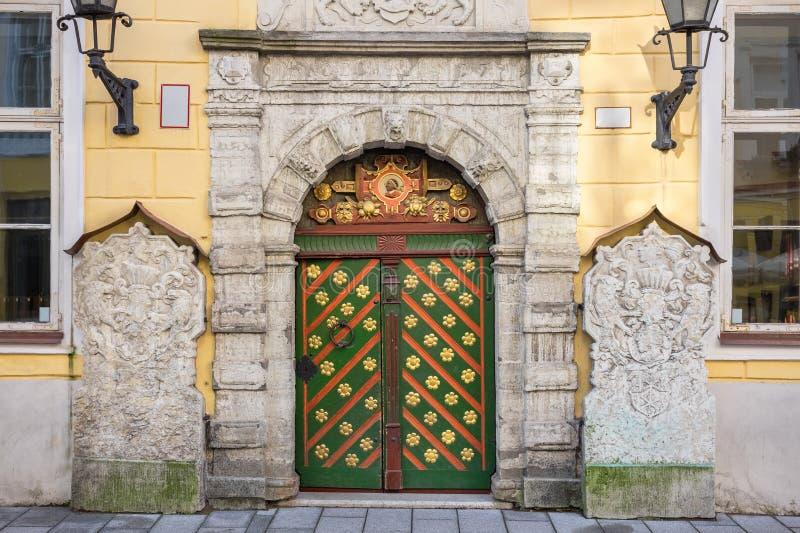 Huis van Meeëters Tallinn, Estland royalty-vrije stock foto's