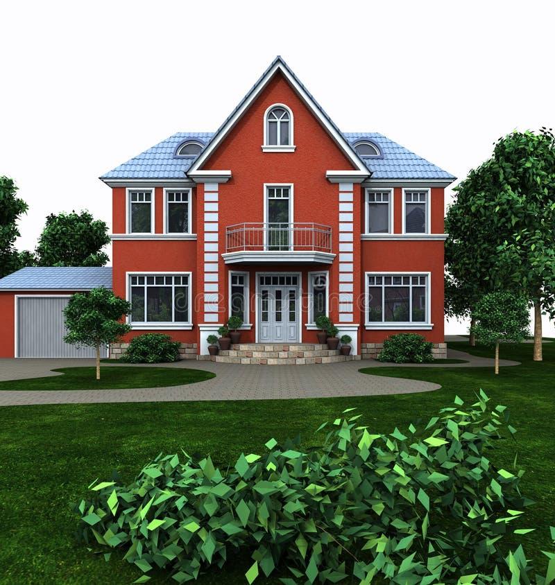 Huis van mijn dromen stock illustratie