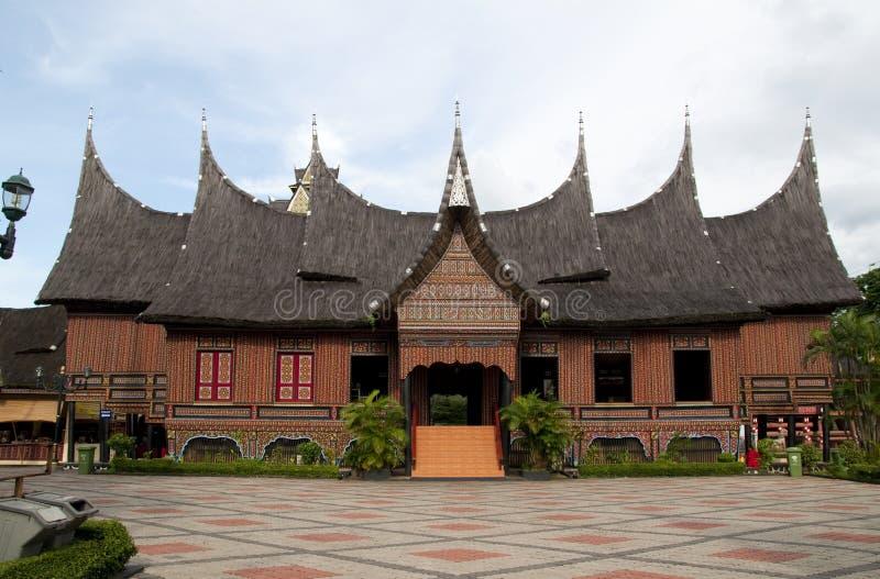 Huis van Minangkabau stock fotografie