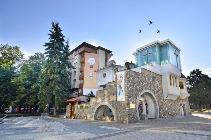 Huis van Moeder Teresa, Skopje, Macedonië stock foto