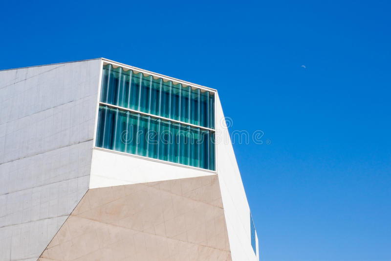 Huis van Muziek (Casa DA Musica) in Porto stock afbeeldingen
