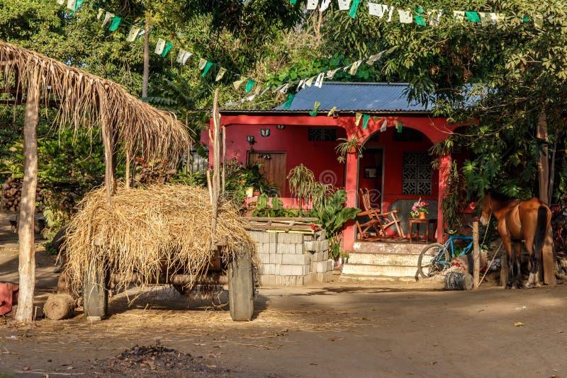 Huis van Nicaragua op de aard stock foto's