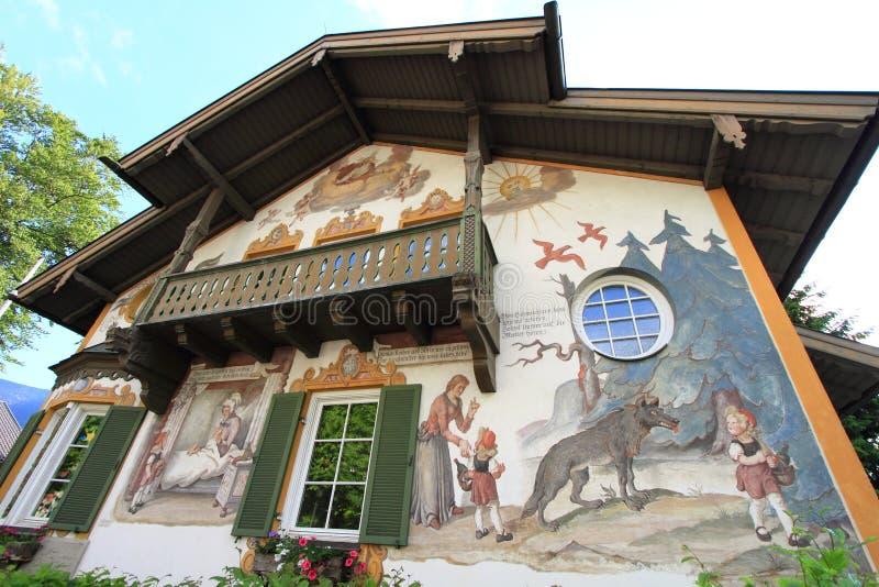 Huis van Oberammergau royalty-vrije stock afbeelding