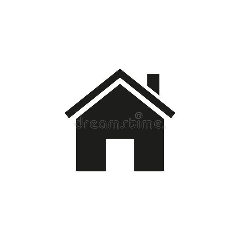 Huis van pictogram royalty-vrije illustratie