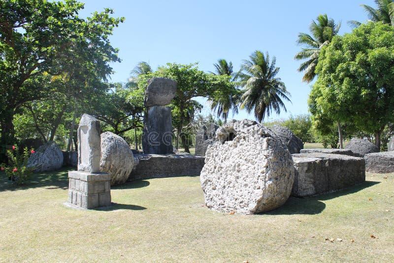 Huis van Taga op Tinian royalty-vrije stock afbeelding