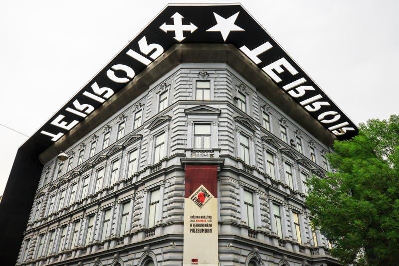 Huis van Verschrikkingsmuseum in Boedapest, Hongarije royalty-vrije stock fotografie