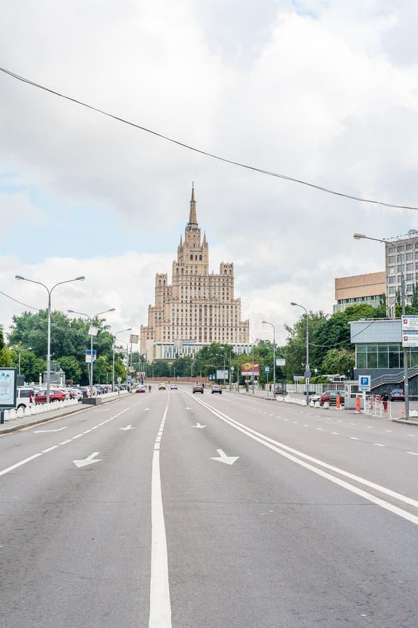 Huis van Vliegeniers in Moskou stock fotografie