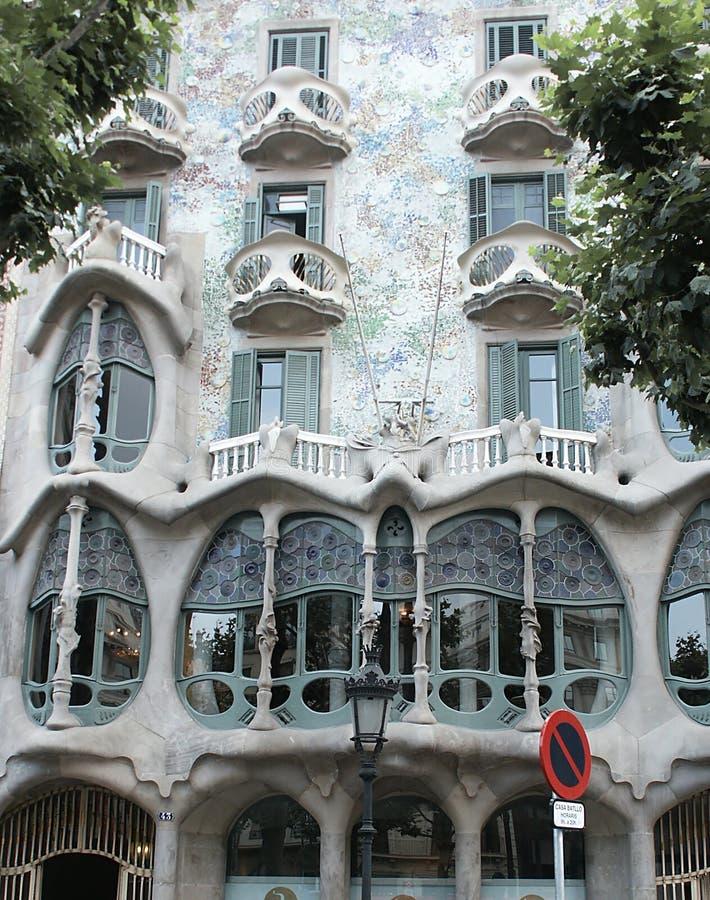 Huis vastgestelde Gaudi stock afbeeldingen