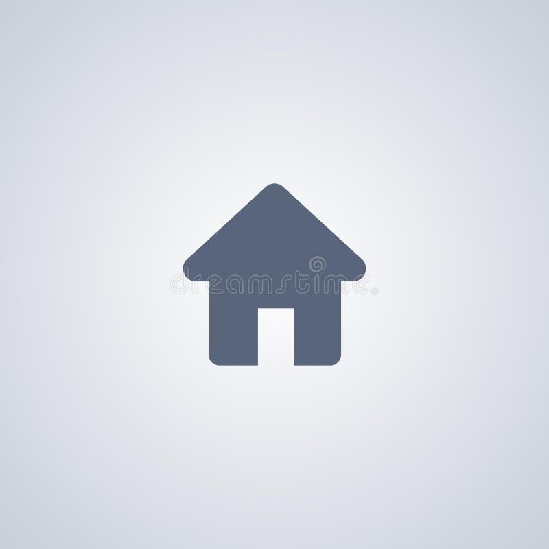 Huis, Huis, vector beste vlak pictogram stock illustratie