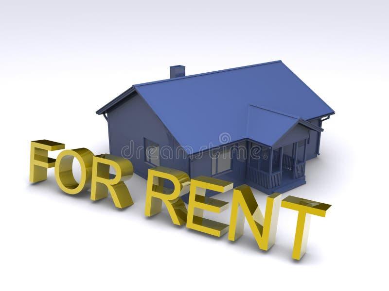 Huis voor huur stock illustratie