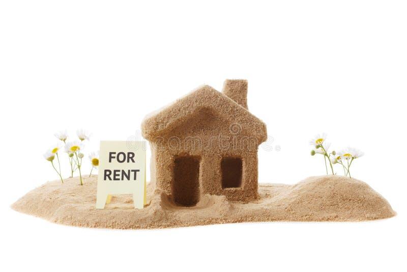 Huis voor huur pictogram stock foto