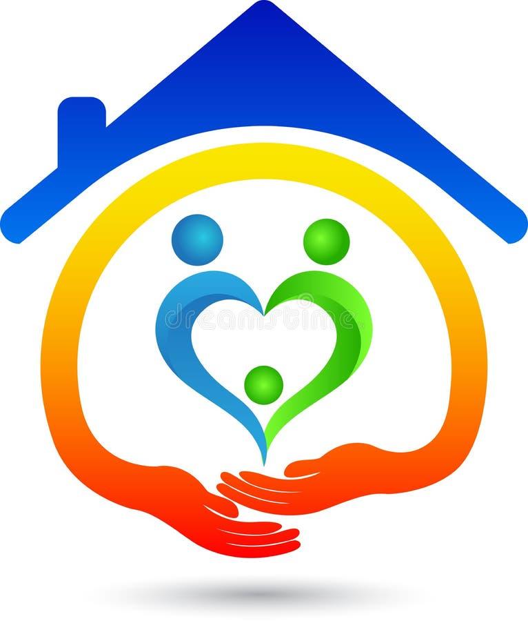Huis voor liefde stock illustratie