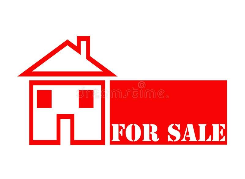 Huis voor verkoop. vector illustratie