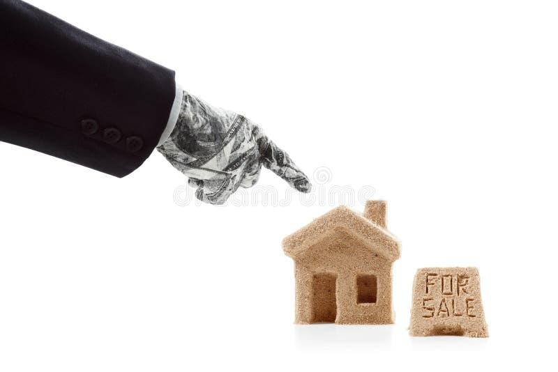 Huis voor Verkoop pictogram stock foto's