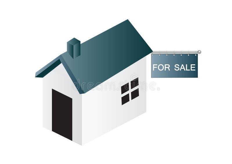 Huis voor verkoop - vector royalty-vrije illustratie