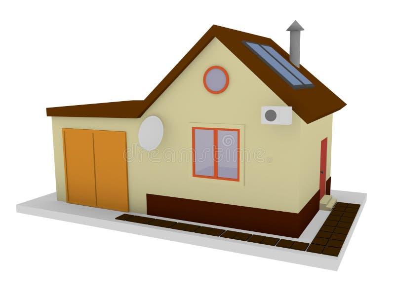 Huis voor verkoopmodel stock afbeeldingen