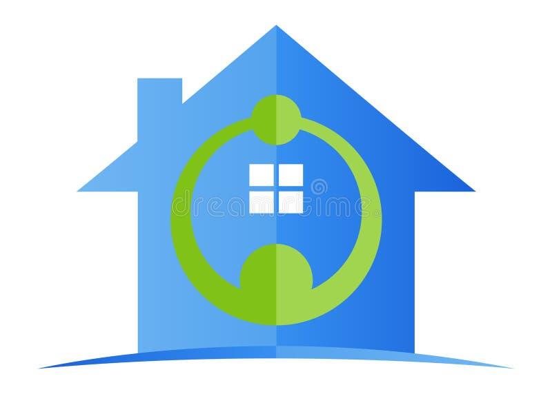 Huis voor vertrouwen vector illustratie