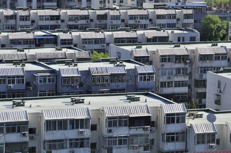 Huis, Woonwijk, Flat, Peking, China stock afbeeldingen