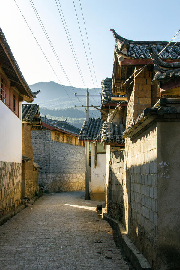 Huis in yunnan China royalty-vrije stock foto