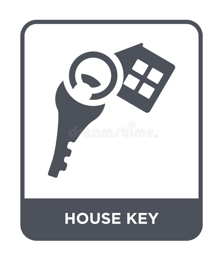 huis zeer belangrijk pictogram in in ontwerpstijl huis zeer belangrijk die pictogram op witte achtergrond wordt geïsoleerd eenvou royalty-vrije illustratie
