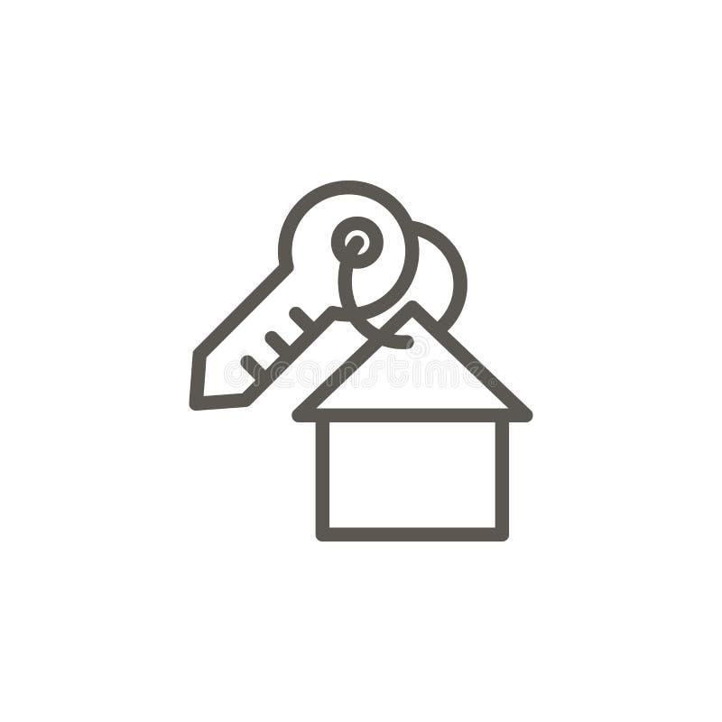 Huis, zeer belangrijk vectorpictogram Eenvoudige elementenillustratie van UI-concept Huis, zeer belangrijk vectorpictogram De vec vector illustratie