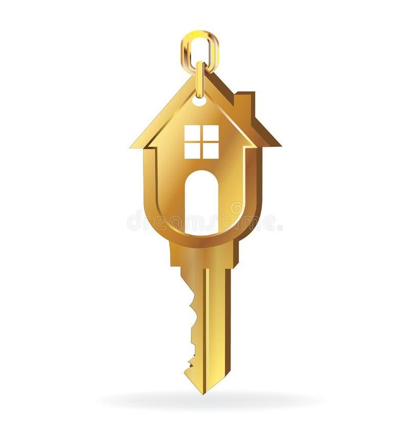 Huis zeer belangrijke gouden onroerende goederen stock illustratie