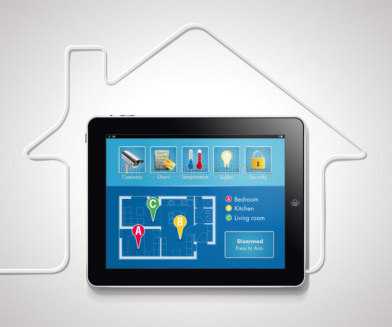 Huisautomatisering 1 stock illustratie