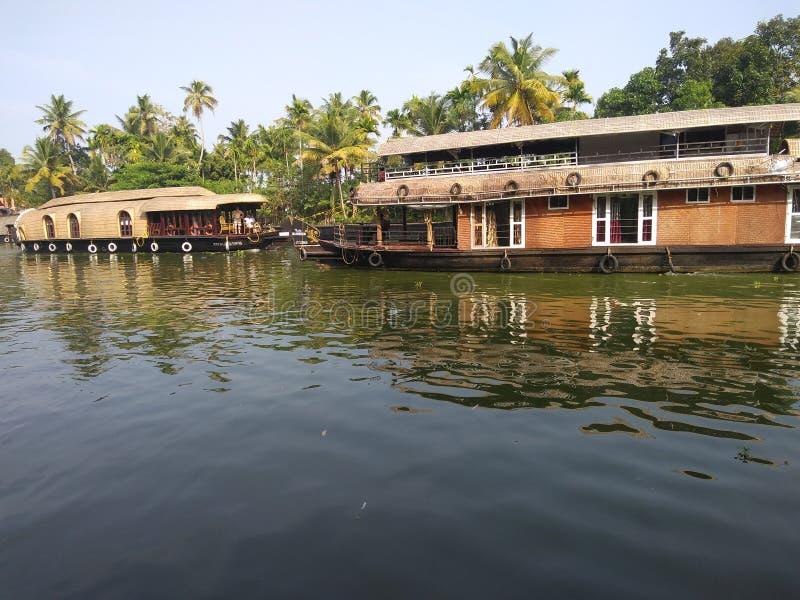 Huisboot @ Alleppey stock fotografie